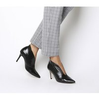 Office Me Too V Front Shoe Boot BLACK GROUCHO LEATHER
