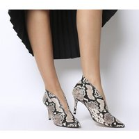 Office Me Too V Front Shoe Boot NATURAL SNAKE LEATHER