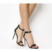 shop for Office Heartfelt Transparent Sandals BLACK at Shopo