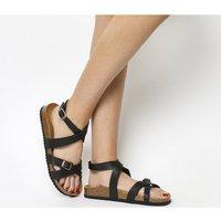 Office Sahara- Ankle Strap Footbed BLACK