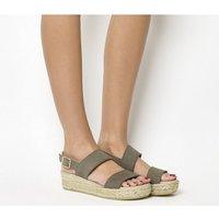 shop for Gaimo for OFFICE Ig3 Flatform Sandal GREY SUEDE at Shopo