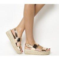 shop for Gaimo for OFFICE Ig3 Flatform Sandal ROSE GOLD LEATHER at Shopo