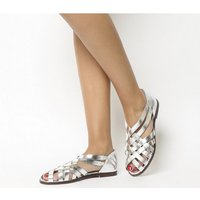 Office Fruit Woven Flat SILVER LEATHER