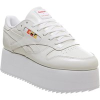Reebok Classic Leather Bold GIGI WHITE NEON RED BLACK GOLD