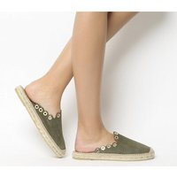shop for Kanna Dora Eyelet Mule KHAKI SUEDE at Shopo