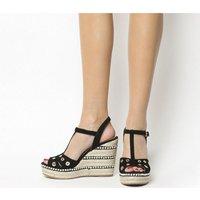 shop for Kanna Bruselas Pearl Heel BLACK SUEDE at Shopo