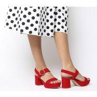 shop for Office Mouse Platform Sandal RED at Shopo