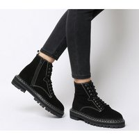 Office Alphabet- Double Rand Lace Up BLACK SUEDE