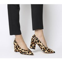 shop for Office Mama Point Court With Chunky Heel LEOPARD PONY EFFECT at Shopo
