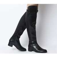 Office Kite- Stretch Back Over The Knee Boot BLACK LEATHER