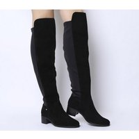 Office Kite- Stretch Back Over The Knee Boot BLACK SUEDE