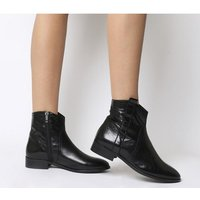 Office Amuse- Western Flat Boot BLACK LEATHER