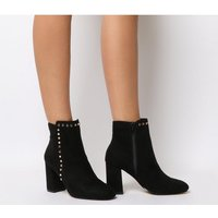 shop for Office Anne Marie- R- Block Heel Stud Detail Boot BLACK at Shopo