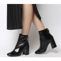 shop for Office Argon- Block Heel Back Zip BLACK PATENT at Shopo