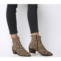 shop for Office Amarillo- Stitch Detail High Cut Boot LEOPARD SUEDE at Shopo