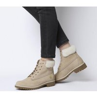 shop for Timberland Slim Premium 6 Inch Fur Cuff STONE EXCLUSIVE at Shopo