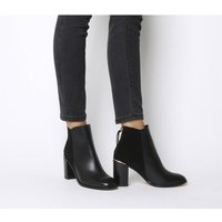 shop for Office Adelle- Square Toe Block Heel BLACK LEATHER SUEDE MIX at Shopo