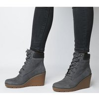 shop for Timberland Paris Height 6 Inch Wedge MED GREY at Shopo