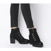 shop for Vagabond Grace Lace Heel Block Boot BLACK NUBUCK at Shopo
