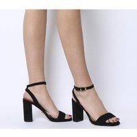 Office Hyena- Platform Two Part Sandal BLACK SUEDE