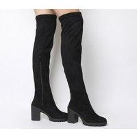 Office Kickstart- Stretch Over The Knee Boot BLACK