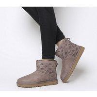 shop for UGG Classic Mini II Logo Exclusive Boots GREY LOGO at Shopo
