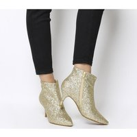 Shoe the Bear Abby Ankle Boot GOLD GLITTER