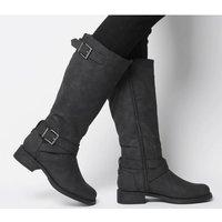 Office Kamel- Biker Knee Boot BLACK