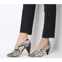 Office Motor Cone Heel Court NATURAL SNAKE LEATHER