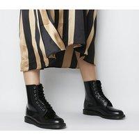 shop for Dr. Martens Elsham 8 Eye Boot BLACK LEATHER at Shopo