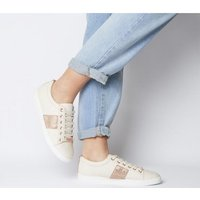 Office Fling Chain Detail Lace Up Trainer NUDE