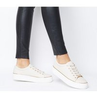 Office Free Flatform Trainer NUDE WITH GOLD RAND