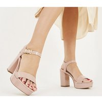 shop for Office Must Have Platform Sandal NUDE PATENT WITH BRANDING at Shopo