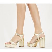 shop for Office Must Have Platform Sandal GOLD METALLIC at Shopo
