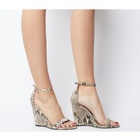 Office Hoot Two Part Slim Wedge NATURAL SNAKE