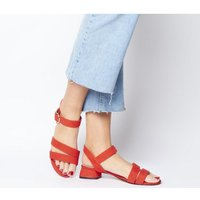 shop for Office Maria Sandal With Flared Heel RED at Shopo