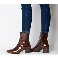 shop for Vagabond Mya Mid Ankle Boot BROWN PATENT at Shopo