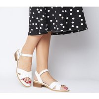 Office Measure Casual Mid Sandal WHITE