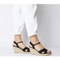 shop for Office Motional Espadrille Wedge With Branding BLACK at Shopo