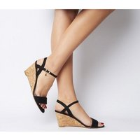 shop for Office Maxima Low Cork Wedge BLACK at Shopo