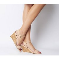 shop for Office Maxima Low Cork Wedge NUDE at Shopo