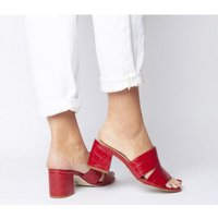 Office Malena Cut Out Mule RED CROC LEATHER