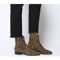 shop for Office Adore- Side Zip Casual Boot LEOPARD FLOCKED SUEDE at Shopo
