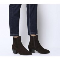 Office Acclaim- Chelsea Boot With Feature Western Heel CHOCOLATE SUEDE