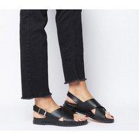 Office Sovereign- City Sandal BLACK SILVER HARDWARE