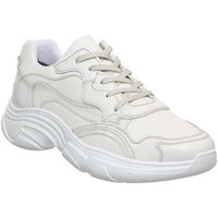 shop for Ask the Missus Leap Chunky Trainer WHITE LEATHER HOLOGRAPHIC at Shopo