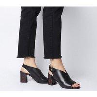 Office Madora Shoeboot W Feature Heel BLACK LEATHER