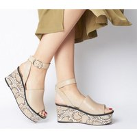 shop for Office Money Honey Leather Wedge NUDE SNAKE LEATHER at Shopo