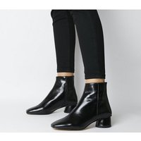 shop for Office Almond- Low Block Heel Boot BLACK LEATHER at Shopo
