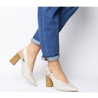 shop for Office Mina Cylindrical Sling Back CREAM CROC LEATHER at Shopo